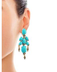 Oscar de la Renta | White Ivory Branch Cabochon Clip Earrings | Lyst