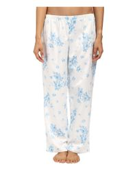 Carole Hochman - Blue Petite Packaged Brush Back Satin Pajama - Lyst