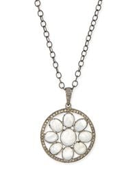 Siena Jewelry | Metallic Moonstone & Diamond Mandala Pendant Necklace | Lyst