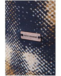 BOSS Orange | Blue 'timmoleo' | Cotton Printed T-shirt for Men | Lyst