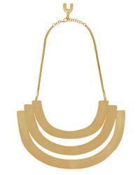 Herve Van Der Straeten - Metallic Plastron Necklace - Lyst