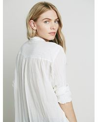 Free People | White Fp One Womens Fp One Sheer Shirting Tunic | Lyst