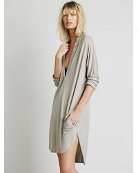 Free People | Gray Gallery Dress | Lyst