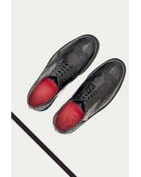 Foot The Coacher | Black Archie High-shine Brouge Shoes for Men | Lyst