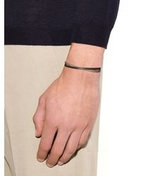 Zadeh - Metallic Liam Leather And Silver Cuff for Men - Lyst
