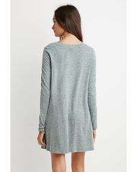 Forever 21 | Green Boxy Heathered T-shirt Dress | Lyst