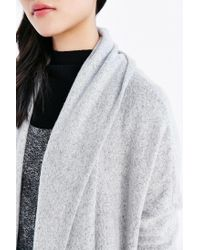 Silence + Noise - Gray Drew Cardigan - Lyst