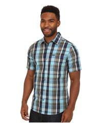Volcom | Blue Parson Short Sleeve Woven for Men | Lyst