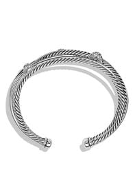 David Yurman - Metallic X Crossover Cuff With Diamonds - Lyst