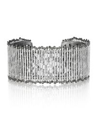 Coomi | Metallic Spring Sterling Silver Cuff With Diamonds | Lyst