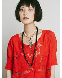 Free People - Red Womens Ipanema Tunic - Lyst