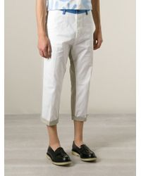 DSquared² | White Cropped Trousers for Men | Lyst