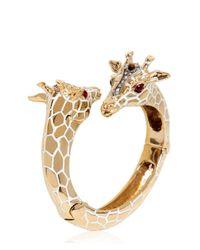 Roberto Cavalli | Metallic Giraffe Bracelet | Lyst