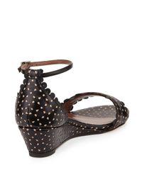 Tabitha Simmons - Black Juniper Leather Sandals - Lyst