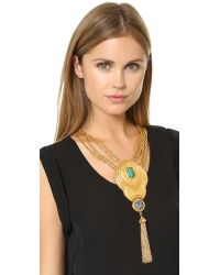 Ben-Amun - Metallic Tassel Lariat Necklace - Lyst