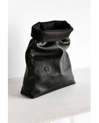 Silence + Noise - Black Oversized Paperbag Clutch Bag - Lyst