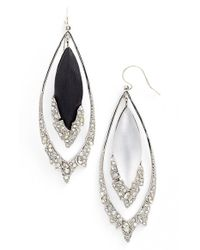Alexis Bittar - Black 'lucite' Double Drop Earrings - Lyst