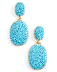 kate spade new york - Blue 'pave The Way' Drop Earrings - Turquoise - Lyst