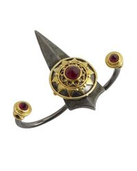 Amrapali | Black 'Dark Maharaja 9 Gems Collection' Ruby Double Finger Ring | Lyst