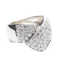 Vendoro - Metallic Diamond Overlap Band - Lyst