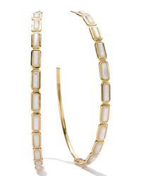 Ippolita | White 18k Gold Rock Candy Gelato Rectangular Hoop Earrings | Lyst