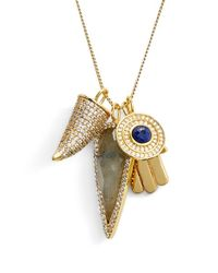 Melanie Auld | Metallic 'protection' Charm Necklace | Lyst