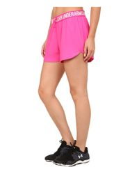 Under Armour - Pink Ua Play Up Short - Lyst