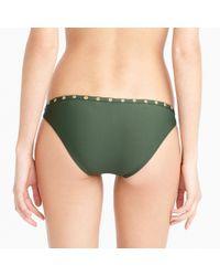 J.Crew - Green Grommet Hipster Bikini Bottom - Lyst
