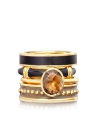 Astley Clarke | Black Turkish Coffee Bamboo Ring | Lyst