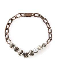 Henson | Metallic Pearl Bracelet | Lyst