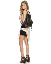 Tory Burch - Marion Bucket Backpack - Black - Lyst