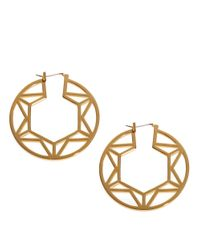 Trina Turk | Metallic Openwork Hoop Earrings - 1.5 In. | Lyst