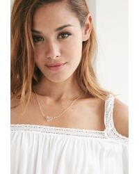 Forever 21 - Metallic Moon And Lola Acrylic Varsity A Necklace - Lyst