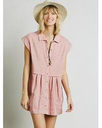 Free People - Red Womens New Moon Babydoll Dress - Lyst