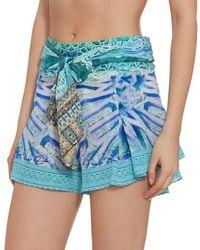 Camilla - Multicolor Belt Sash Print Short - Lyst