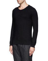 The Viridi-anne - Black Raglan Sleeve T-shirt for Men - Lyst