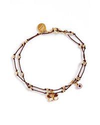 Blee Inara | Black Wrap Charm Bracelet | Lyst