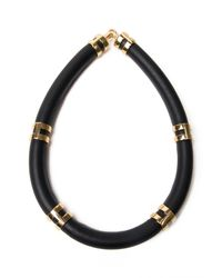Lizzie Fortunato - Black Double Take Collar Necklace - Lyst