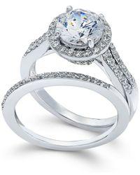 Arabella | Metallic Swarovski Zirconia Bridal Set In Sterling Silver (4 Ct. T.w.) | Lyst
