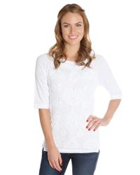 Lucky Brand - White Soutache Top - Lyst