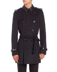 Burberry - Blue Kensington Trenchcoat for Men - Lyst