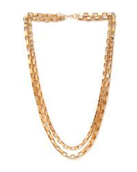 Forever 21 | Metallic Box Link Chain Necklace | Lyst