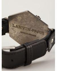 Lanvin | Black Adjustable Bracelet | Lyst