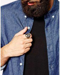 Simon Carter - Metallic Skull Ring Exclusive To Asos for Men - Lyst