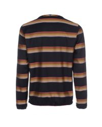 Paul Smith - Multicolor Rainbow Stripe Wool Smock for Men - Lyst