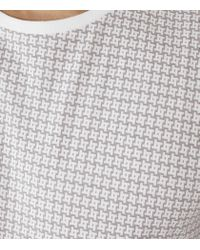 Reiss | Gray Gold Geometric Print T-shirt for Men | Lyst