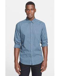 Vince | Blue 'melrose' Trim Fit Gingham Sport Shirt for Men | Lyst