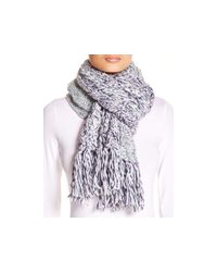 UGG | Blue Grand Meadow Novelty Cable Fringe Scarf | Lyst