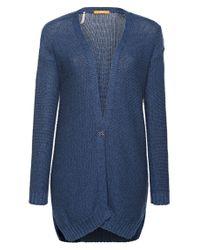 BOSS Orange - Blue Long Cardigan In Cotton Knitwear: 'wirele' - Lyst