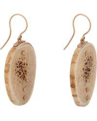 Monique Péan - Natural Fossilized Woolly Mammoth Bone Slice Drop Earrings - Lyst